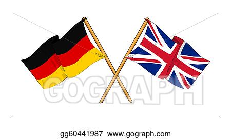 Stock Illustration United Kingdom And Germany Alliance And