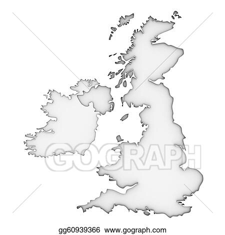 Stock Illustration United Kingdom Map Clipart Drawing Gg60939366