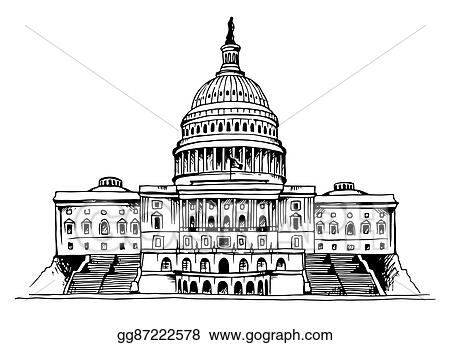 Vector Clipart United States Capitol Building Vector Illustration Vector Illustration Gg87222578 Gograph