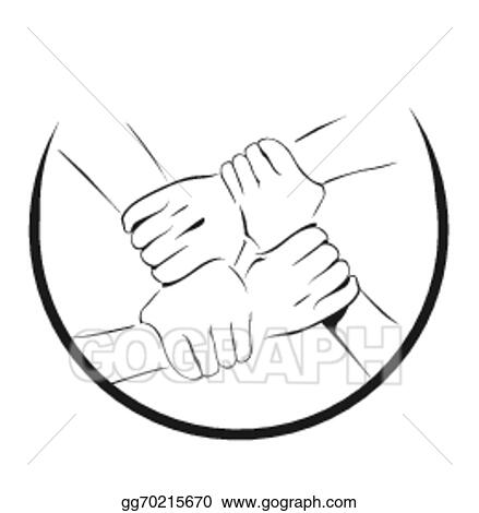 Vector Clipart Unity Hand Symbol Vector Illustration Gg70215670 Gograph