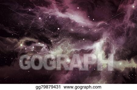 Drawing Universe Starscape Background Clipart Drawing