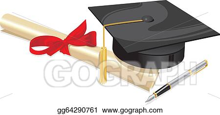 470f85cc91d117 Vector Art - University degree college greeting . EPS clipart ...