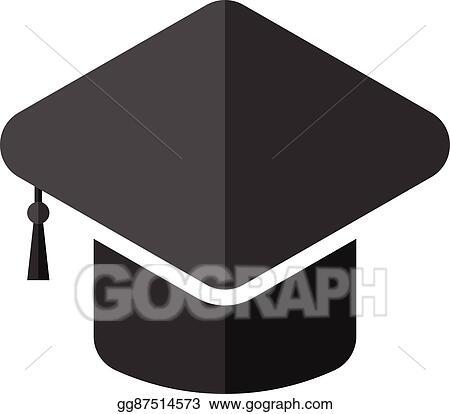 91c5b17866b082 Vector Stock - University hat, flat design. Clipart Illustration ...