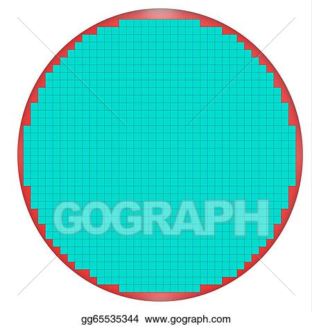 Stock Illustrations - Untested semiconductor wafer map