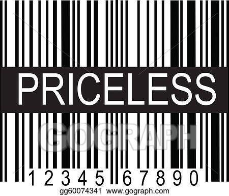 Vector Stock - Upc code priceless  Stock Clip Art gg60074341