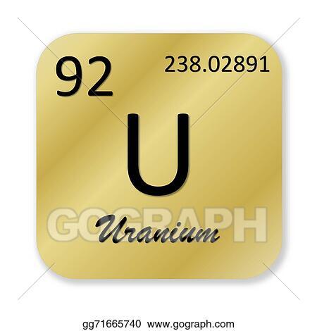 Stock Illustrations Uranium Element Stock Clipart Gg71665740