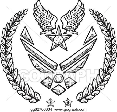 Vector Art Us Air Force Military Insignia Eps Clipart Gg62700604