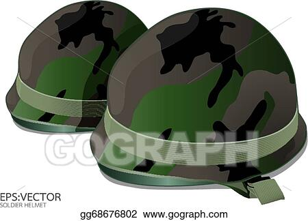 Vector Clipart - Us army helmet on white background vector