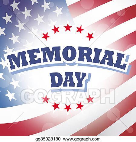 Memorial day banner. Clip art us stock