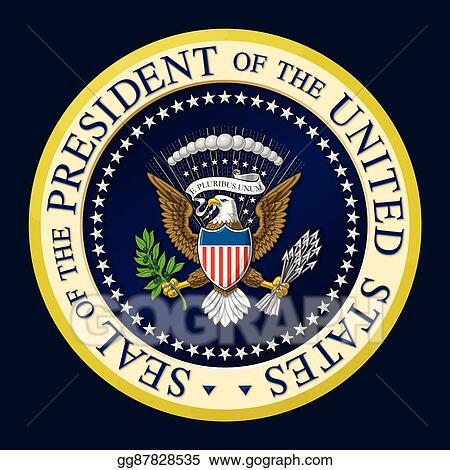 Vector Illustration - Us presidential seal color. EPS ...