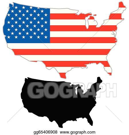 vector art usa map flag clipart drawing gg65406908 gograph rh gograph com usa map clip art public domain usa map clip art