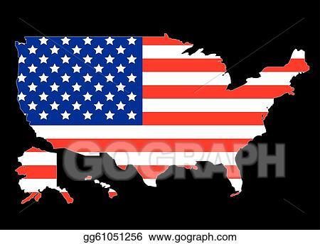 EPS Illustration - Usa map outline. Vector Clipart gg61051256 - GoGraph