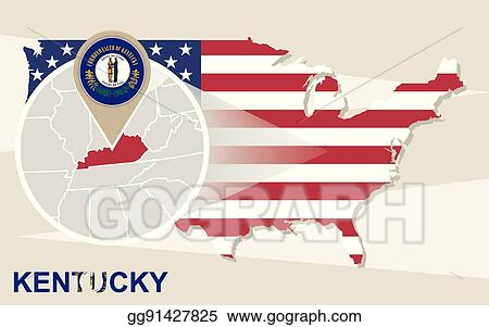 Vector Illustration - Usa map with magnified kentucky state ... on washington map clip art, arizona map clip art, wisconsin map clip art, arkansas map clip art, north carolina map clip art, illinois map clip art, mississippi map clip art, maryland map clip art, michigan map clip art, alabama map clip art, iowa map clip art, united states map clip art, colorado map clip art, memphis map clip art, nebraska map clip art, kansas map clip art, mn map clip art, tennessee map clip art, utah map clip art, california map clip art,