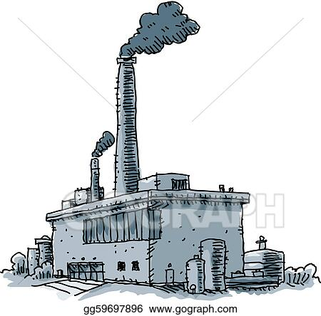 Illustration Commerciale Usine Dessin Clip Art Gg59697896