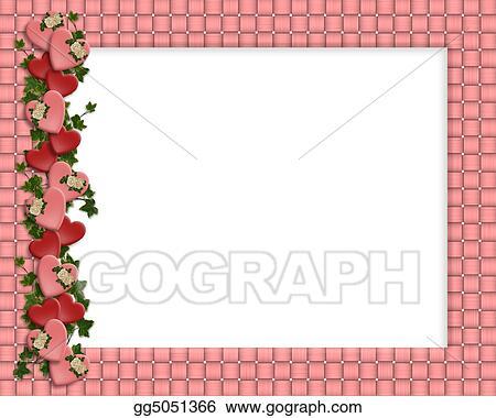 stock illustrations valentine border hearts frame stock clipart
