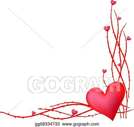 Clip Art Vector - Valentine-element-frame. Stock EPS gg58334733 ...