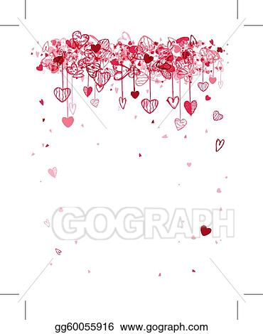Vector Art - Valentine frame design with space for your text ...