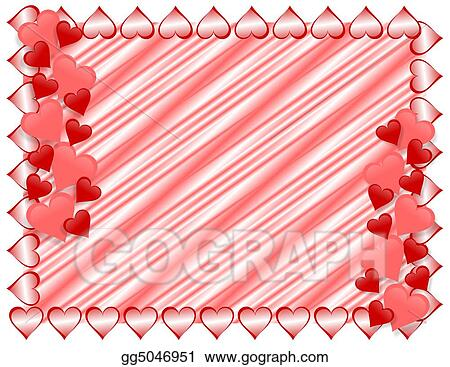 Stock Illustration Valentines Day Border Hearts Clipart Drawing