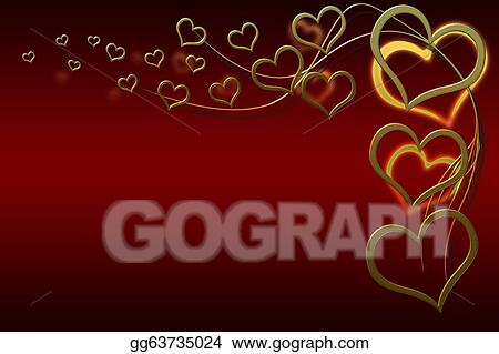 Stock Illustration Valentines Day Card Clipart Gg63735024 Gograph
