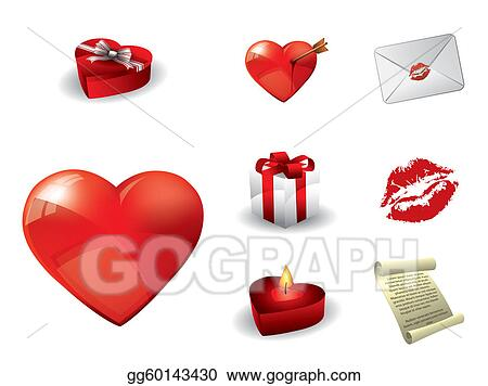 Vector Art Valentine S Day Elements Clipart Drawing Gg60143430