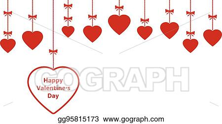 Vector Art Valentines Day Ornaments Eps Clipart Gg95815173 Gograph