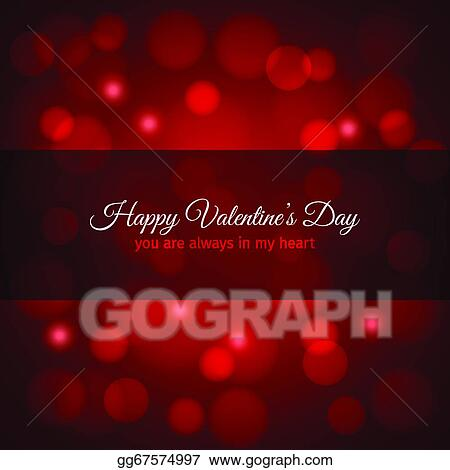 Eps Vector Valentines Day Red Lights Design Background Stock