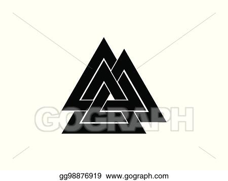 Clip Art Vector Valknut Is A Symbol Of The Worlds End Of The Tree
