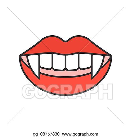 Vector Clipart Vampire Teeth Halloween Related Icon Filled