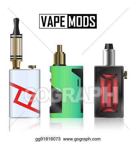 Clip Art Vector - Vape mod set  electronic cigarette with
