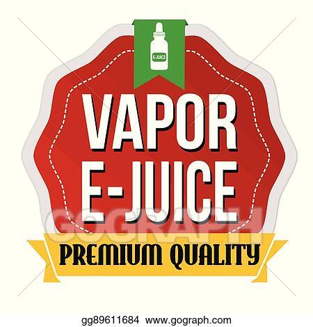 Vapor E Juice Label Or Sticker