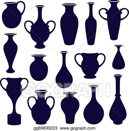 Vector Stock Vases Set Clipart Illustration Gg69830223 Gograph