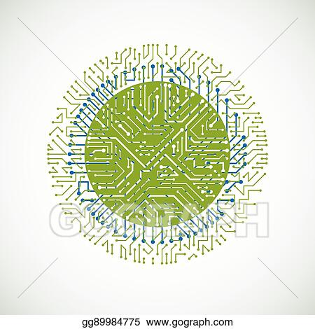 vector art vector abstract colorful technology illustration with