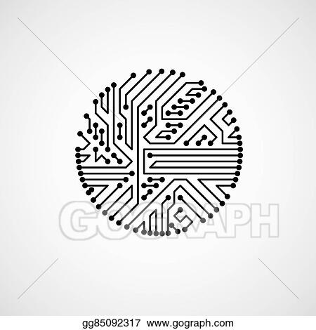 vector stock vector abstract computer circuit board illustration rh gograph com