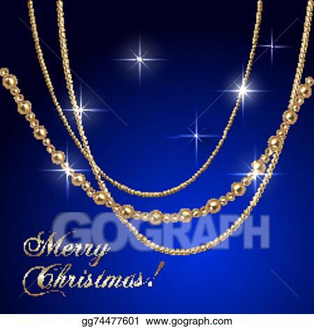 Christmas Chain Clipart.Vector Art Vector Abstract Luxury Christmas Greeting Card