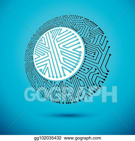 Clip Art Vector - Vector abstract technology illustration with ...