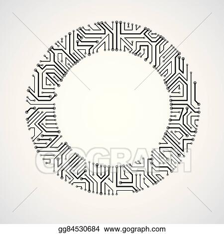 eps vector vector abstract technology illustration with round