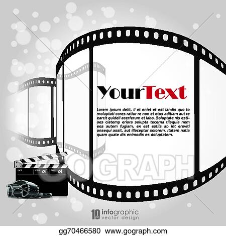 Vector Clipart Vector Background Movie Film Strip Vector