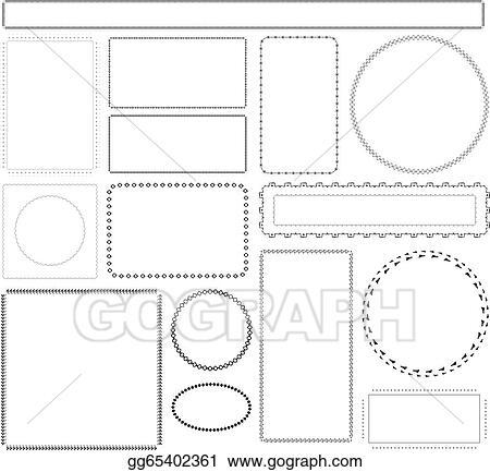 Vector Art - Vector background pattern frames. EPS clipart ...