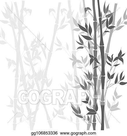 eps vector vector bamboo black and white background plants silhouettes stock clipart illustration gg106853336 gograph https www gograph com clipart license summary gg106853336