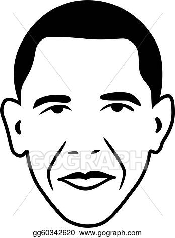 Vector Clipart - Vector barack obama - president of usa ...