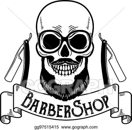 Vector Illustration Vector Barbershop Emblem Barbershop Logo Or