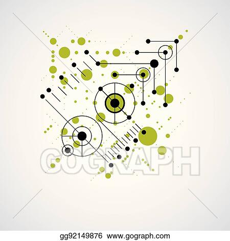 eps illustration vector bauhaus abstract background made with grid