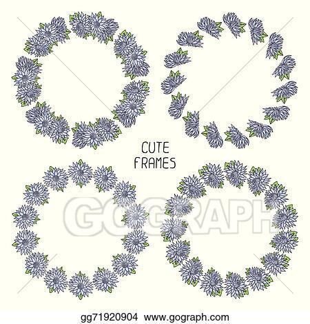 Eps Vector Vector Beautiful Floral Frame Illustration Background
