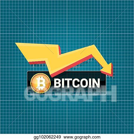 Vector illustration vector bitcoin market crash graph on blueprint vector bitcoin market crash graph on blueprint background bitcoin hype concept vector illusrtation with blank space fo text depreciation of bitcoin malvernweather Gallery