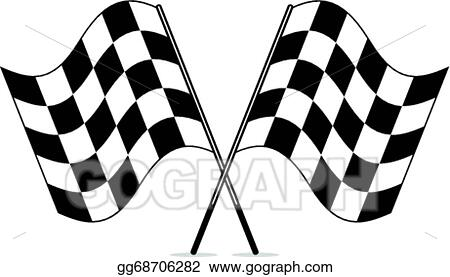 eps vector vector black and white crossed racing checkered flags rh gograph com checker flag clip art checkered flag clip art vector