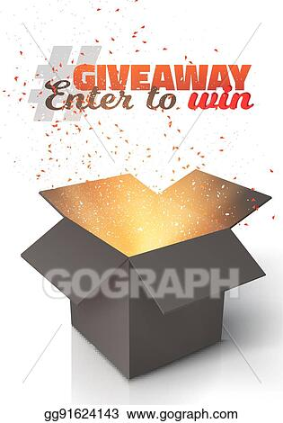 vector stock vector black box giveaway competition template stock