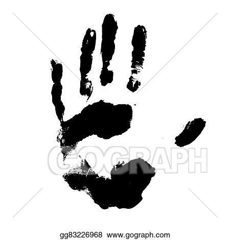 Vector Art Vector Black Handprint Clipart Drawing