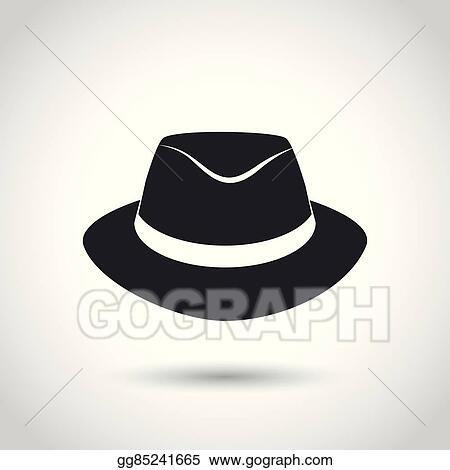 7bd7a93075b91 Vector Stock - Vector black hat icon. Clipart Illustration ...