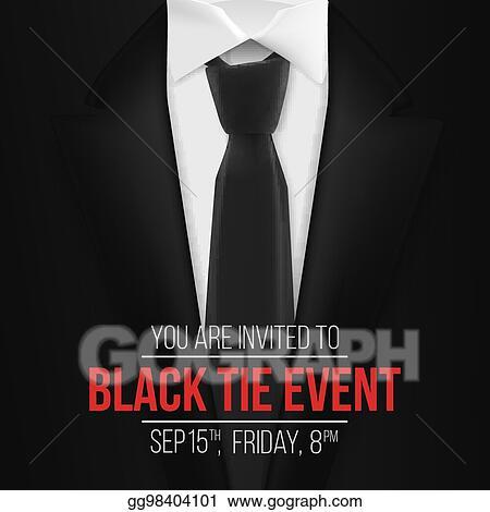 vector clipart vector black suit black tie event invitation