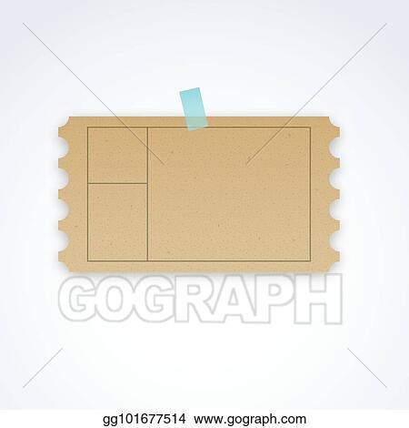 vector stock vector blank ticket template with cardboard texture